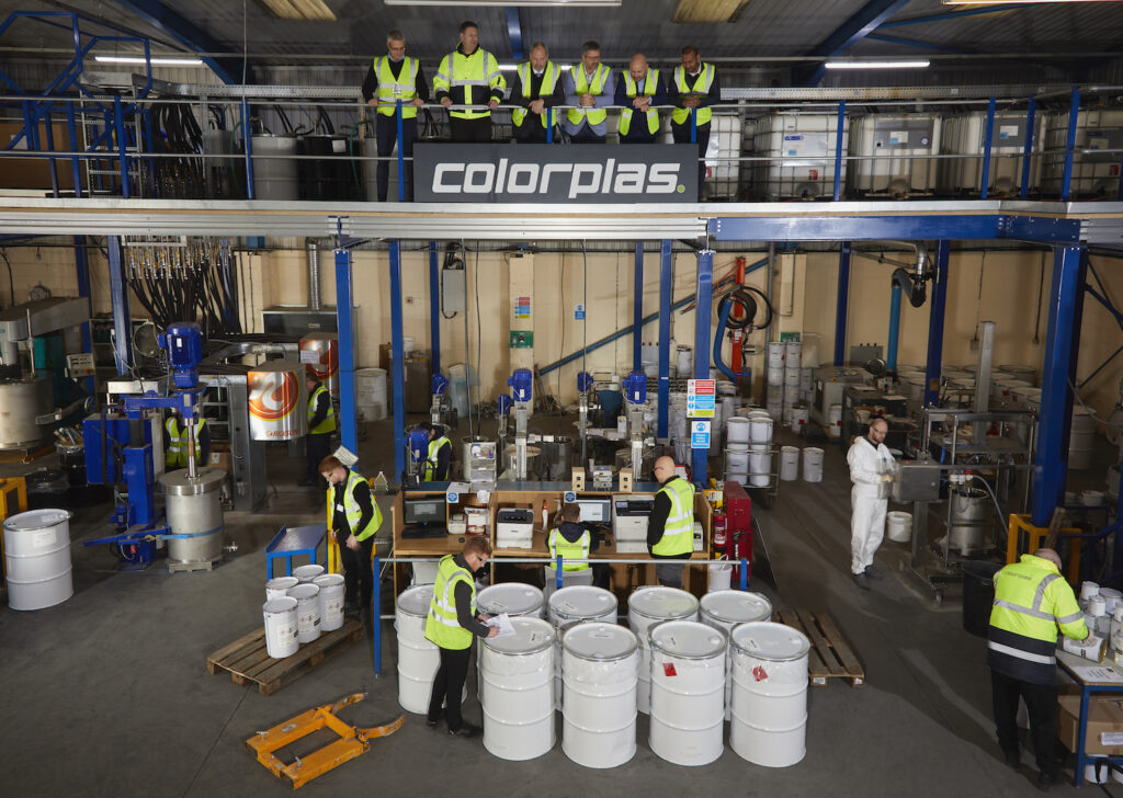 Biggest investment in the Company's 30 year history gets underway, seeing the installation of automated colourant dispensing system, spectrophotometer & new mezzanine systems.